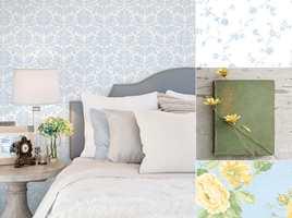 <b>HAGEPRAKT:</b> Jardin Chic er en tapetkolleksjon fra Fantasi Interiør med mange blomstermotiv. Fine kombinasjoner for tapet i rom etter rom og god sommerfølelse.