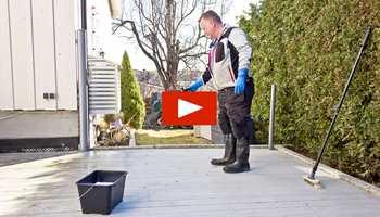 Jordan sin egen malermester, Morten Fehn, viser deg hvordan du lykkes når du skal gjøre terrassen klar for å beises.