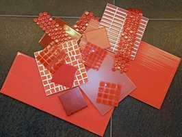 Fliser kan brukes på veggen, som bordskånere, underlag for glass og varme kjeler.