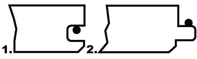 Figur 1 og 2 gir god liming mellom overleppa og fjæras overside. Det er en fordel om limet fyller fugen mellom lamellbordene slik at også slitebeleggene er limt mot hverandre, noe som reduserer inntrengning av vannsøl.
