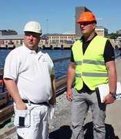 Prosjektleder Karstein Midthjell og Lars R. Johannessen, distrikssjef hos Casco.