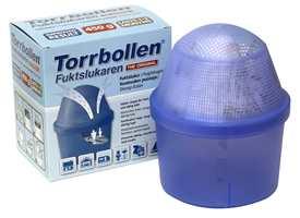 <b>SMART:</b> Torrbollen Fuktsluker fra Kemetyl motvirker fukt, kondens, mugg og dårlig lukt.