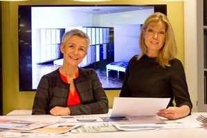 Trine Hoem fra Kinnarps og interiørarkitekt Adele Kløve har lagd et fargerikt kontormiljø.