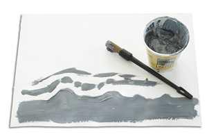 Effekten er fått til ved å gradvis blande svart og hvit maling.