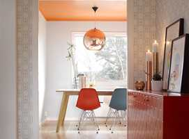 <b>TAKET:</b> Det oransje taket gir energitilskudd til tidlige morgener. (Foto: Per Erik Jæger/ifi.no)