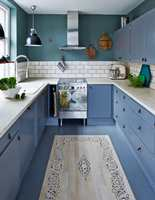 <b>NYE FARGER:</b> Hvem trenger vel å skifte ut kjøkkeninnredningen når man kan male frontene?