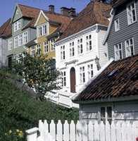 Husrekke i Bergen, eksempel på arkitektur i klassisisme