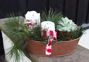 <b>FOR ANLEDNINGEN:</b> Pyntet til jul. Ellers i året er den noe mer nedtonet, og fylt med grønne planter.