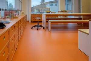 <b>ORANSJE:</b> Oransje er en livlig farge, og fra de oransje områdene kan det nok høres ekstra med liv og latter: Dette er området for SFO og første trinn.