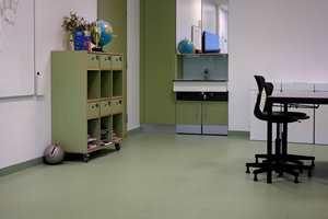 <b>STERKEST:</b> De sterkeste fargene er benyttet for de yngste barna og litt mer rolige dypere farger for de eldre klassetrinnene. I det grønne området finner vi trinn 6.