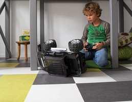 Med klikklinoleum er det enkelt å skape er personlig uttrykk! Her er Marmoleum Click fra Forbo Flooring.