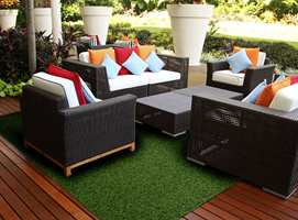 Dette er Garden fra Golvabia. Kvaliteten gjør at det også egner seg godt til anlegning av hager og utemiljøer