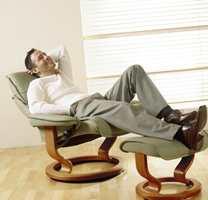 ...menn er mest opptatt av tekniske detaljer og komfort foran TV-apparatet.