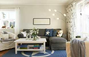 Moderne stue.