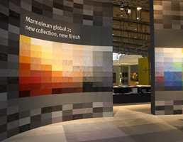 Den nye Marmoleum Global 2 presentert på gulvmessen i Hannover.