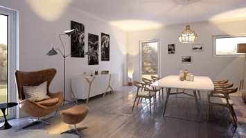 <b>POPULÆRT:</b> Mange drømmer om listefrie løsninger rundt dør og vindu, for å understreke den moderne, rene stilen.