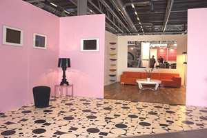 Rosa er in og gulvet er i vinyl fra en av de helt moderne kolleksjoner.