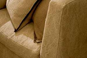 En sofa i lin er vakkert og slitesterkt.