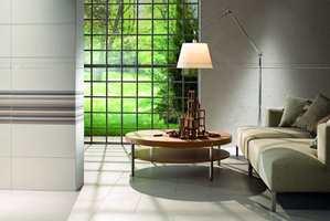 Skap et spennende uttrykk med fliser - både på vegger og gulv.