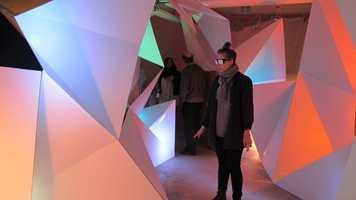 Romforløp for folk med begrenset synsfelt. Gode kontraster i form og farge. Fungerte også for dem med tunellsyn.