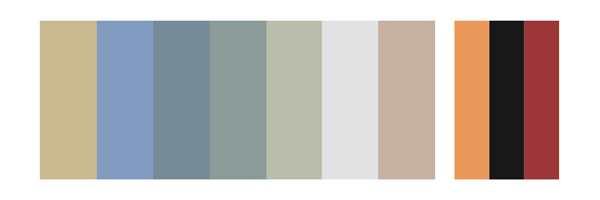 <b>FARGEPALETT:</b> Fra venstre: NCS S 2010-Y10R, S 2030-R80B, S 3020-R90B, S 3010-B30G, S 2005-G10Y, S 1005-R80B, S 2005-Y80R, S 4020-Y30R, S 3040-R80B, S 3060-Y90R. Vi tar forbehold om at fargene på skjermen ikke gir riktig gjengivelse av fargene.