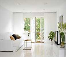 <b>MALT GULV:</b> Et nymalt gulv gjør mye med rommet.