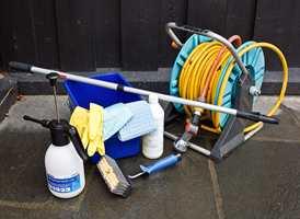 <b>VASKEUTSTYR:</b> Sørg for at vaskeutstyret er i orden på vaskedagen, så kaster du ikke bort tiden på å lete.