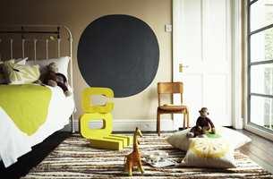 <b>BARNEROM:</b> Dekorativ maling på veggen er perfekt på barnerommet.