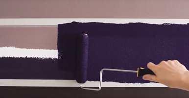 <b>MIDTEN:</b> Mal feltet mellom maskeringstapene med fargen du ønsker.
