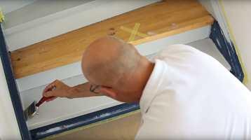<b>ANNETHVERT TRINN:</b> Når det er tid for malejobben, gjelder det å unngå trinnene som er markert. Mal alt annet.