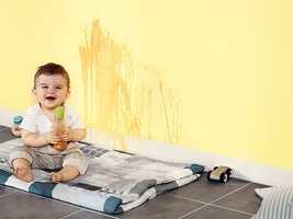 <b>VASKBAR:</b> Velg en maling som er enkel å vaske og som tåler litt røff bruk. (Foto: Nordsjö)