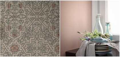 <b>ANNO:</b> Med stilhistorisk tapet fra kolleksjonen Anno fra Borge, sammen med en dus rosa fra Beckers, kan du få et tradisjonsrikt, tidløst interiør.