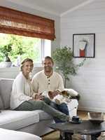 Familien Ebeltoft-Skaugrud består av Hilde, Tor Inge, Wiel (2 år) og Jack Russel-terrieren Ola.