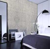 Spennende vegg med farget, grå kork fra Storeys.