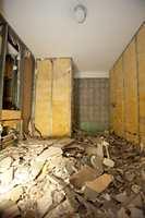 Oppussingen var omfattende. Begge badene revs inn til stenderverket.