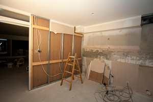 Det gamle kjøkkenet ble fullstendig fjernet.