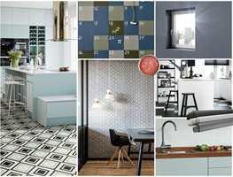 Med slette skapdører, matt maling, et mønstret gulv og et åpent sinn kan du enkelt få et tøft og moderne kjøkken.