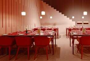 <b>STRAMT:</b> Monokrom fargesetting i rødt var også tema på Skandinavias store interiørmesse i Stockholm i fjor. Med enklere former, hardere overflater og større kontrast mellom nyanser blir stilen og atmosfæren strammere enn eksempelet over.
