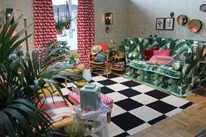 <b>PERSONLIG:</b> I trendutstillingen på Oslo Design Fair for et par år siden gikk Christine for full miks.