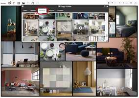<b>MOODBOX:</b> Bildene du har lagt til i Moodbox blir synlige i galleriet i moodboardet.