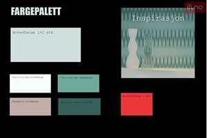 En fargepalett kan for eksempel se slik ut.