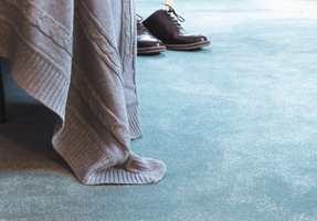 <b>MORGENGLEDE:</b> Det er ikke stort som føles bedre enn å sette føttene på et mykt, varmt teppe på morgenen.