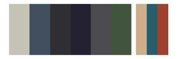<b>FARGEPALETT:</b> (f.v.) NCS S- 2002-G, S 6020-R90B, S 8005-R80B, S 7020-R80B, S 7005-R80B, S 6020-G10Y, S 2010-Y30R, S 4040,-B10G, S 3060-Y70R. Vi tar forbehold om at fargene på skjermen ikke gir riktig gjengivelse av fargene.