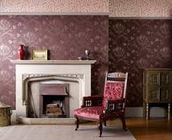 Archive Wallpapers består av et utvalg av 11 ikoniske design fra Morris & Cos arkiver. Designet Artichoke dateres tilbake til 1898.