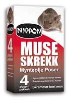 Mynteolje avgir en sterk lukt som mus finner ubehagelig. Det holder musene borte.