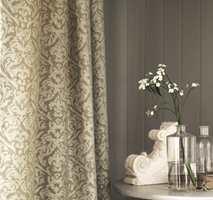 <b>GRÅTT:</b> Tekstil i damaskveving skaper en avslappet eleganse. Dette er Sorilla fra Sanderson/INTAG.