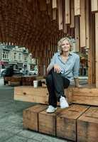 Arkitekt MNAL Birgitte Skjerve er sikker i sin sak når hun sier at kalde og harde materialer ikke er fremtiden. Foto: Erik Burås