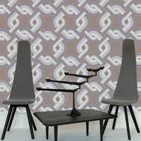 Nonfigurative mønstre i beige og brunt er også blant trendene denne høsten. Her et tapet tegnet av designeren Tom Dixon for Cole & Son. Tapetet heter Link og forhandles av Interiøragenturer. Foto: Produsenten