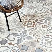 <b>ORIENTALSK: </b>Gulv med mønstre inspirert av forskjellige land og kulturer er populært. Dette er et vinylgulv med mønster som et lappeteppe eller keramiske fliser.