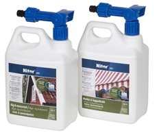 Koble på og koble av hagslangen: Praktisk og effektivt produkt med doseringsmunnstykke.